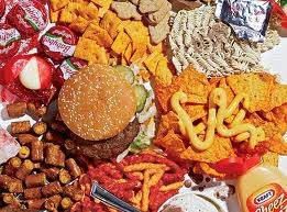 Photo of junk food.
