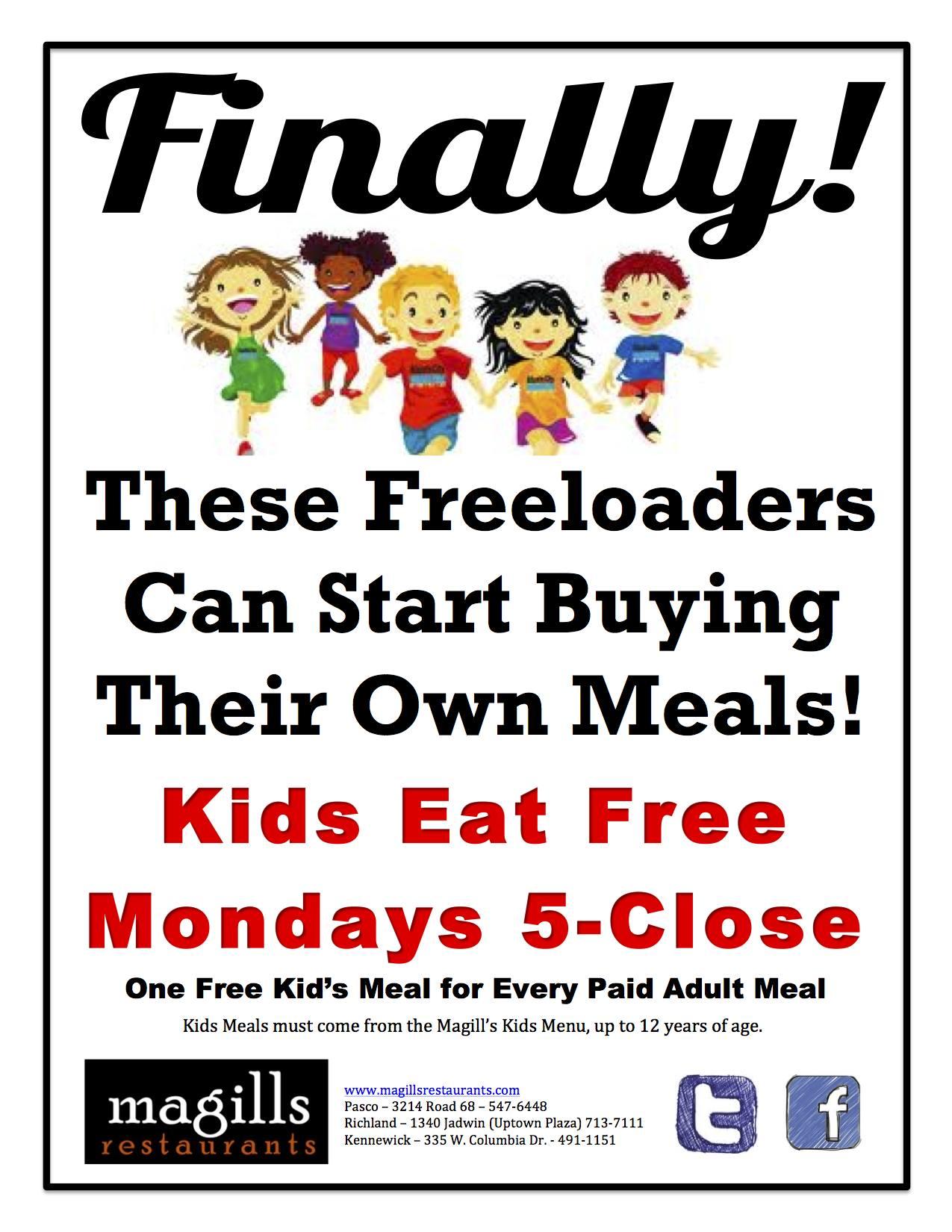 Restaurants Where Kids Eat Free On Mondays
