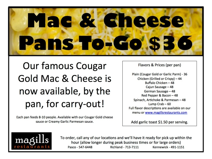 Mac n Cheese Pans To Go Full Page Flyer