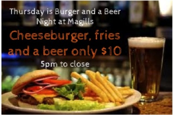 Thursday Burger and Beer Night LG