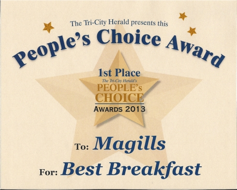 TCH Peoples Choice Award Best Breakfast