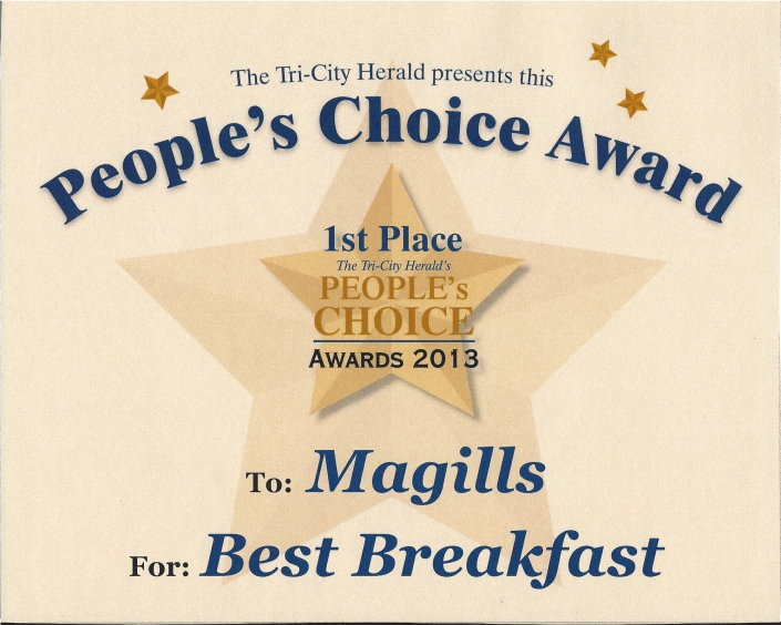TCH Peoples Choice Award Best Breakfast