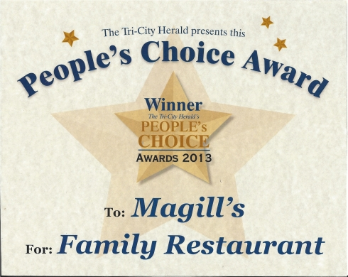 TCH Peoples Choice Award Best Family Restaurant