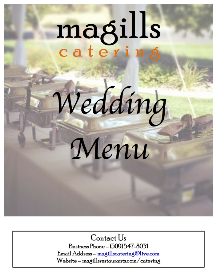 Wedding Catering Menu F613