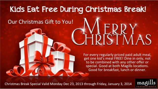Kids Eat Free Christmas Break