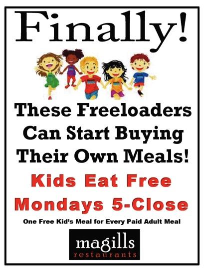 Kids Eat Free Magills Restaurant Catering