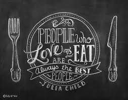 people who love food